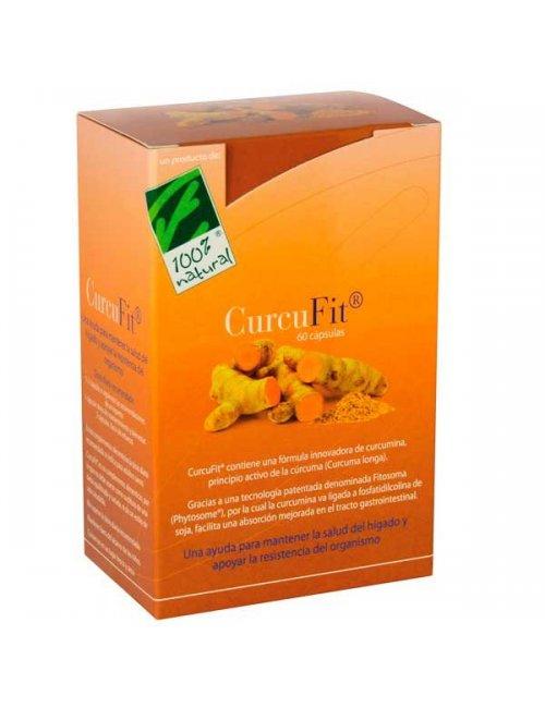100% Natural CurcuFit 60 Capsulas