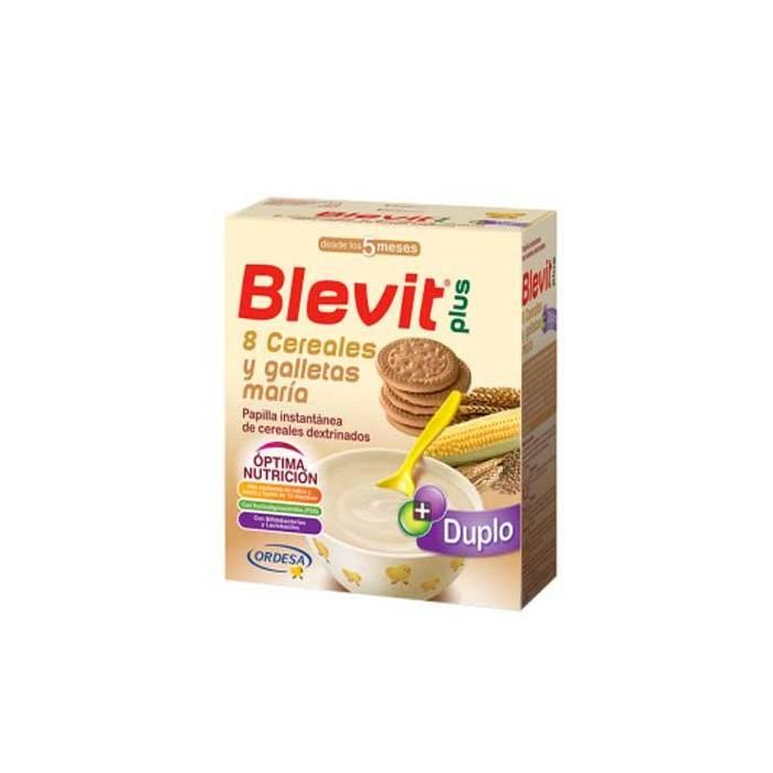 Blevit Plus Duplo 8 Cereales Galletas María. ORDESA