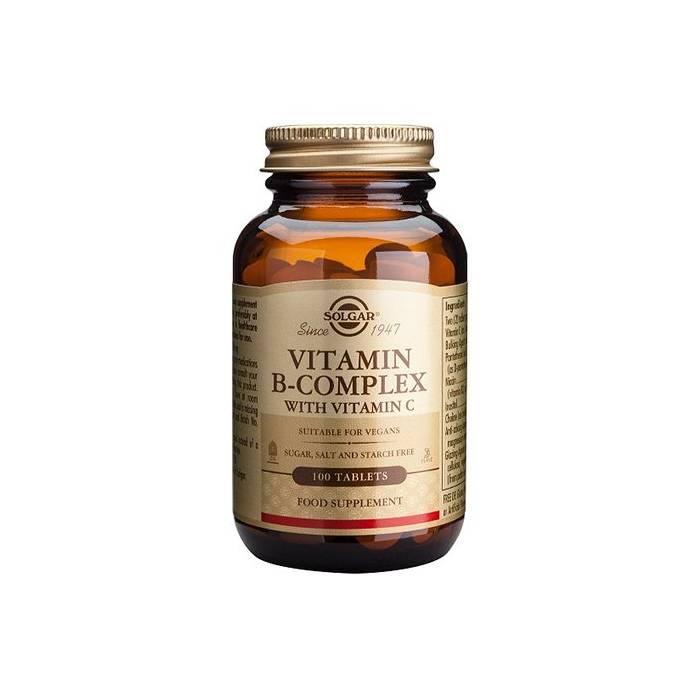 Solgar B-Complex + Vitamina C 100 Comprimidos