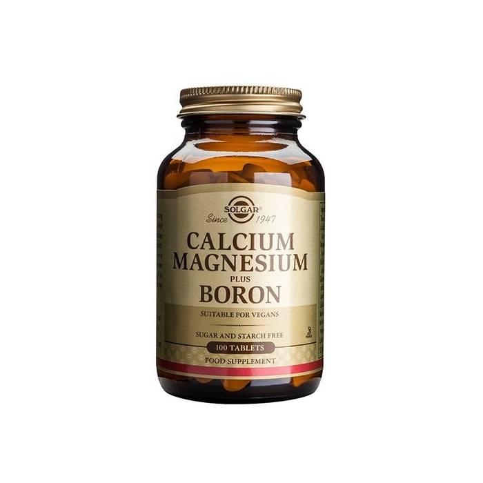 Calcio Magnesio Plus Boro (Huesos) 100 comprimidos Solgar