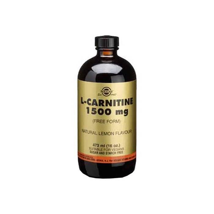 L-Carnitina Líquida 1500 mg. Solgar en forma libre