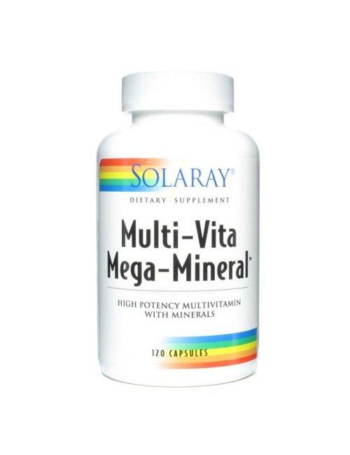 Solaray Mega Multi Mineral 120 Capsulas