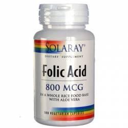 Ácido Fólico 800 Mcg 100 Cápsulas Solaray