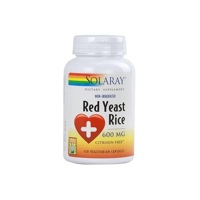 Red Yeast Rice (Levadura roja de arroz) 45 Cápsulas Solaray