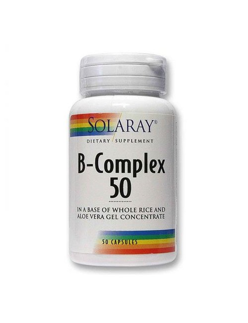 B-Complex 50 Solaray (Complejo Vit.B) 50 Cápsulas