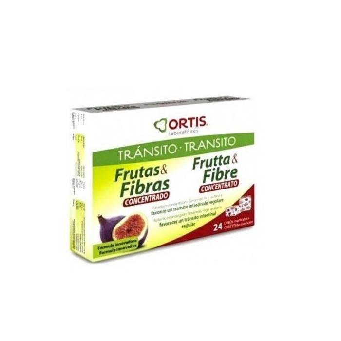 Ortis Transito Frutas y Fibras Concentrado 24 Cubos