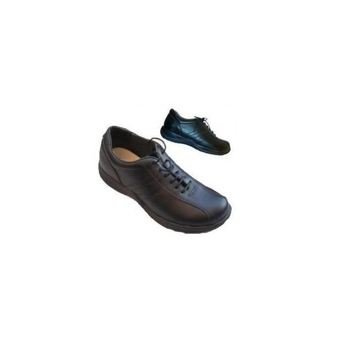 Toffeln zapato cordones negro