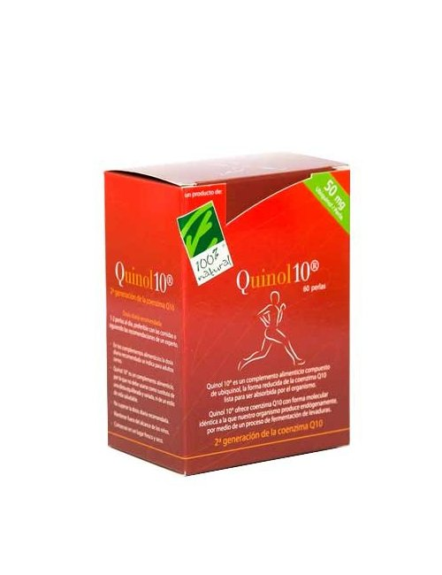 100% Natural Quinol 10 50mg 60 Perlas