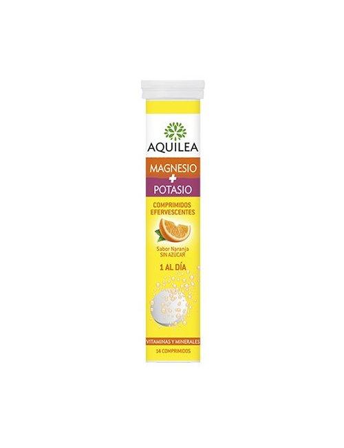 Magnesio Potasio Aquilea Efervescente 14 Comprimidos (Naranja)