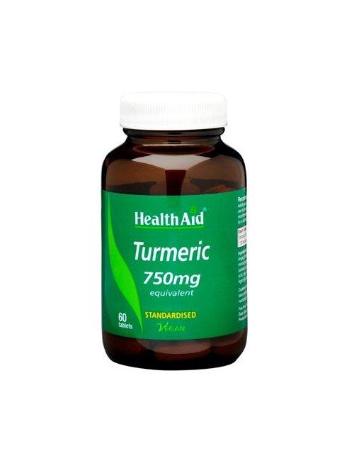 Cúrcuma-Turmeric 750mg  60 Tabletas HealthAid