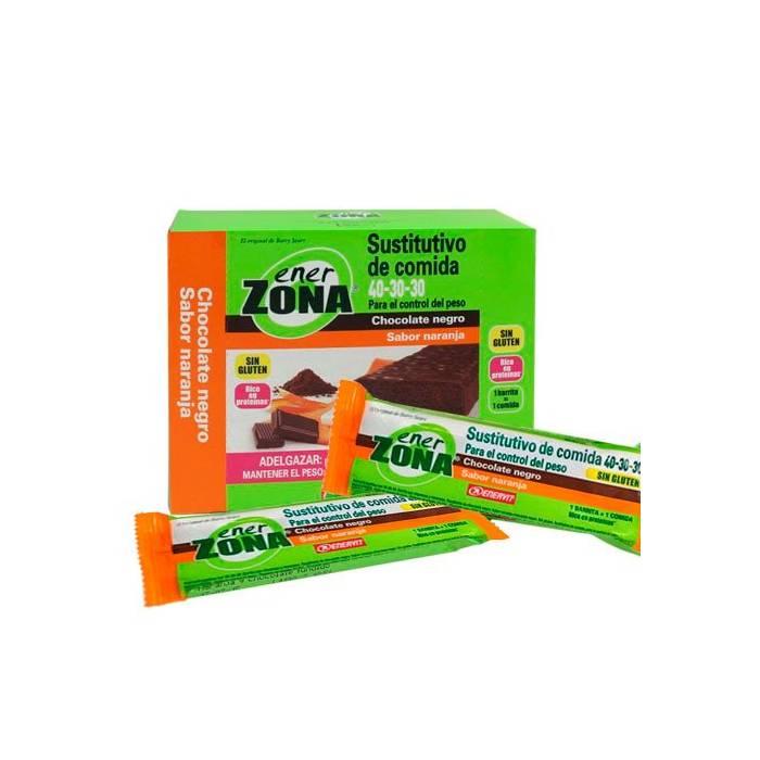 Enerzona Caja Barritas Chocolate Negro Sabor Naranja