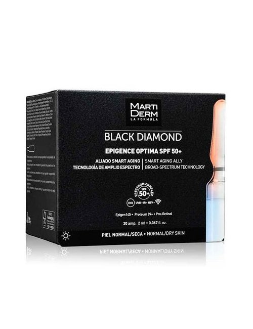 MartiDerm Black Diamond Epigence Optima SPF50+ 30 Ampollas