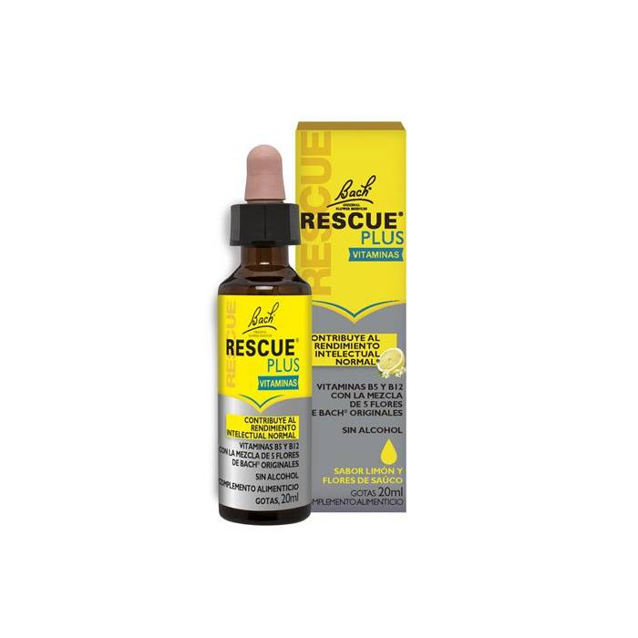 Bach Rescue Plus Vitaminas Gotas 20 Ml.