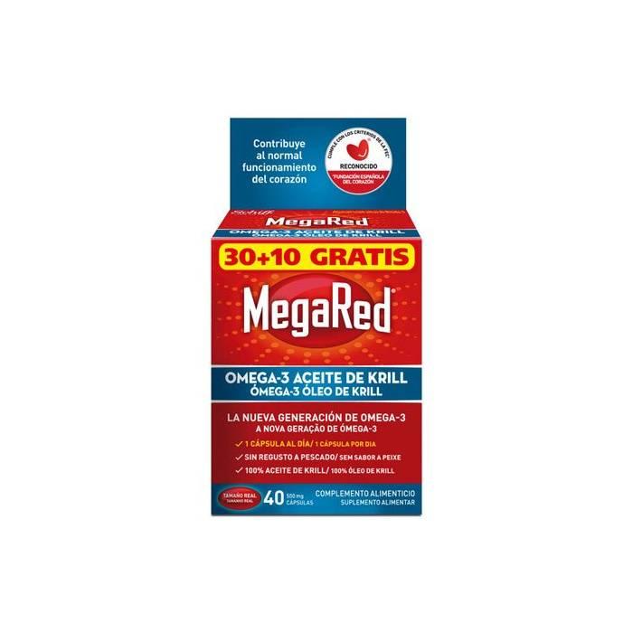 Megared 500 Omega 3 Aceite de Krill 40 Caps.s