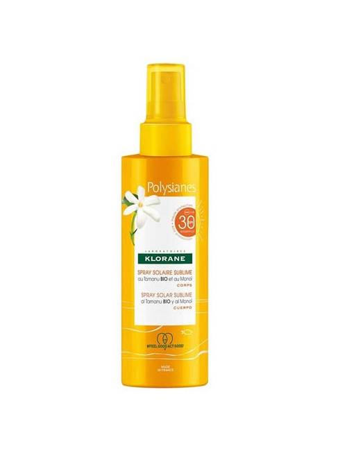 Polysianes Spray Sublime SPF 30 Al Tamanu Bio Y Al Monoï