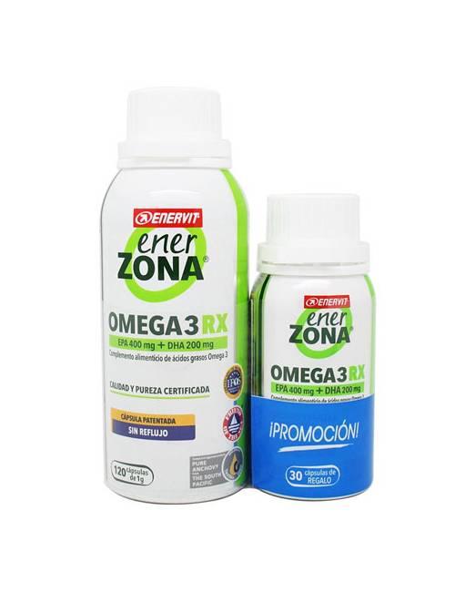 Enerzona Omega 3 RX 120 Cápsulas + REGALO