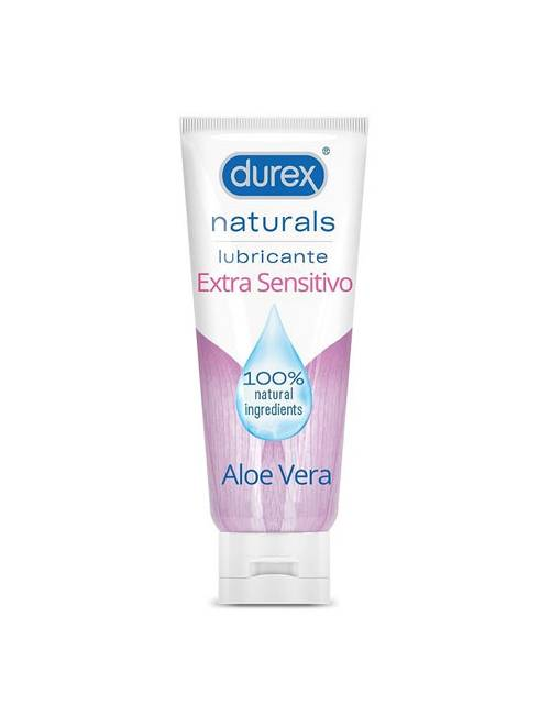 Durex Naturals Lubricante Extra Sensitivo Aloe Vera 100 Ml.