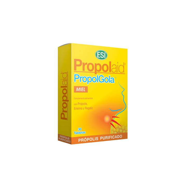 PropolGola Masticable Sabor Miel 30 Tabletas (Própolis-Erísimo)